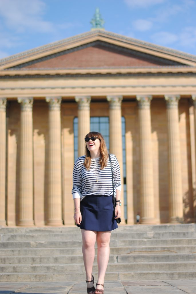 ON THE STEPS OF THE ART MUSEUM