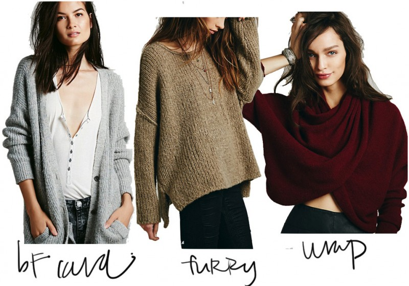 free people fall sweaters